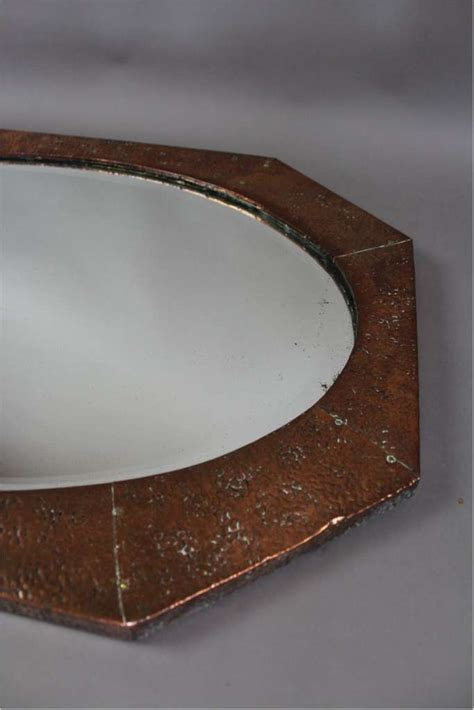 hammered copper table ls on sale arts and crafts period wall mirror in hammered copper
