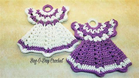 dish towel potholder tutorial youtube how to crochet a pair of vintage dress potholders dish