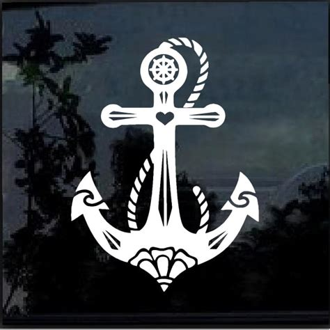 boat anchor decal car decals anchor boat a2 sticker custom sticker shop