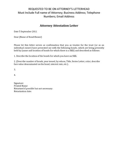 Signature Attestation Letter Format best photos of signature attestation letter sle