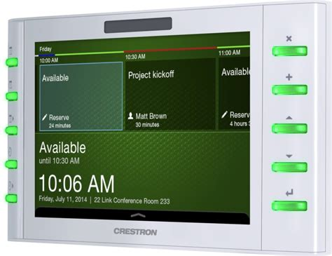 product specifications tsw 1050 crestron electronics tsw 732 w s 7 quot room scheduling touch screen white