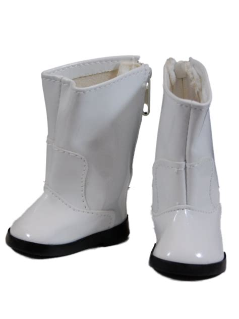 white go go boots shoes for 18 quot american 168 doll clothes