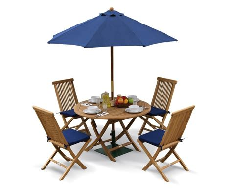 Folding Outdoor Table And Chairs Suffolk Folding Garden Table And Chairs Set Outdoor Patio Teak Dining Set