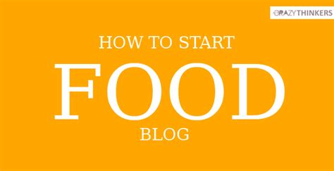 How To Start An Online Blog And Make Money - how to start a food blog and make money online