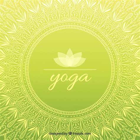imagenes de fondo yoga dibujado a mano ornamental de yoga fondo verde descargar