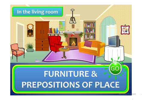 the living room furniture in the living room furniture prepositions of place a