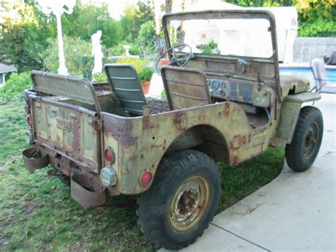 51 Willys Jeep 1951 51 Willys Jeep M38 Korean War Army Jeep For