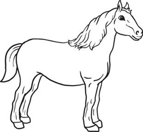 black and white coloring pages of horses free printable horse coloring page for kids