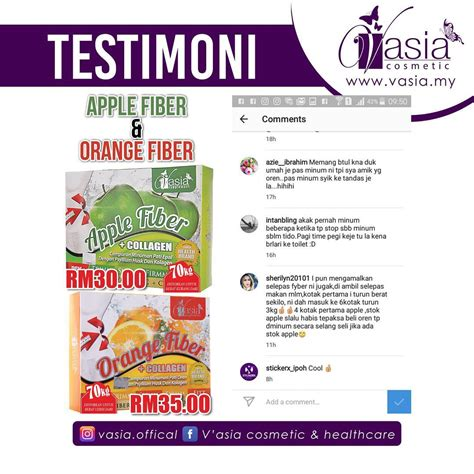 Collagen Vasia apple fiber collagen v asia kiosk