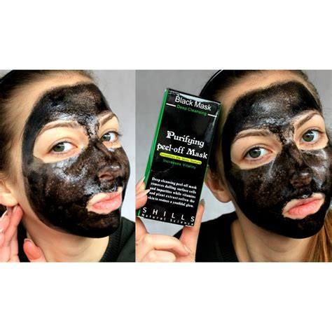 Detox Mud Mask For Acne by Shills Cleansing Black Mask Peel Acne Mud
