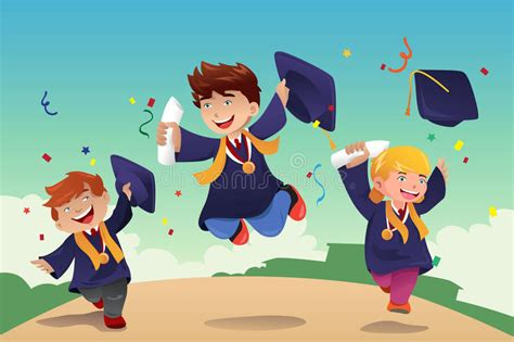 Mba Graduation Pictures With Parents Backgrounds by Students Celebrating Graduation Stock Vector