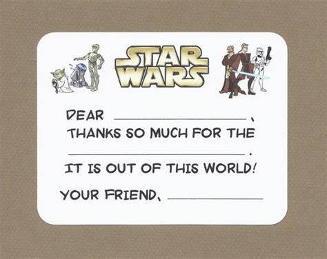 printable star wars thank you 137 best images about star wars birthday party on