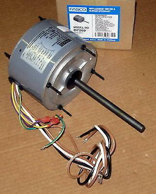 fasco d7909 ac air conditioner condenser fan motor 1 4 hp 1075 rpm 230 volts ebay