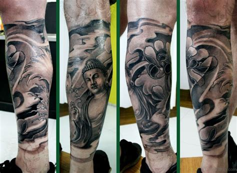 red buddha tattoo 40 buddha tattoos on leg