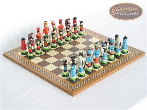 theme chess sets hungarian szur chessmen with spanish mosaic chess board
