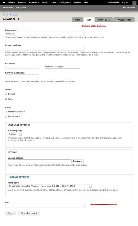 drupal theme user register form put quot display on user registration form quot also in manage