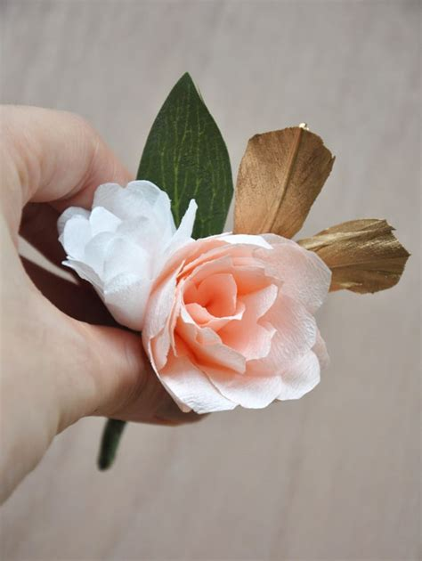 Handmade Corsage And Boutonniere - 20 beautiful paper flowers and plants window