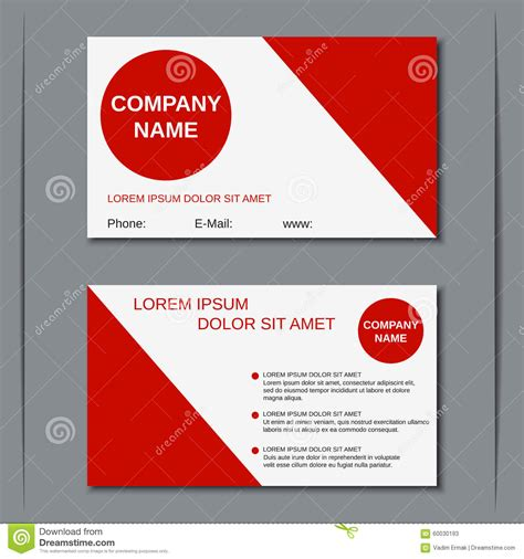 business card sticker template business visiting card vector template stock vector