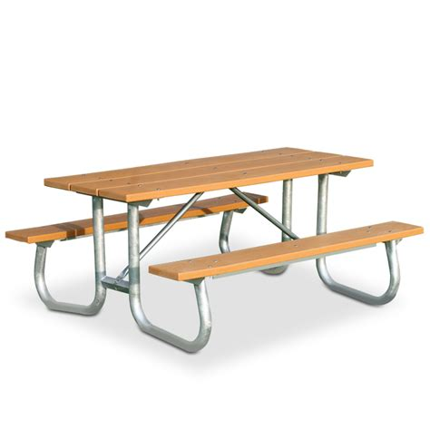 6 rectangular recycled plastic picnic table with