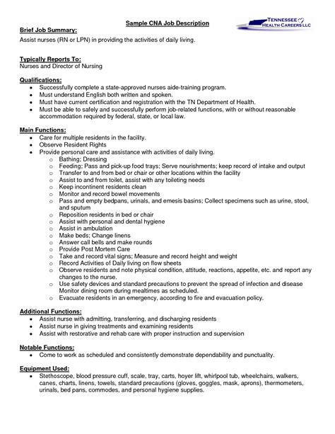 Cna Description On Resume a cna description let s read between the lines