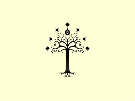 white tree of gondor tattoo white tree of gondor inverted