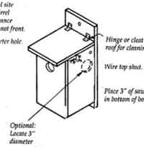 squirrel house plans free over 50 free bird house and bird feeder woodcraft plans at allcrafts net