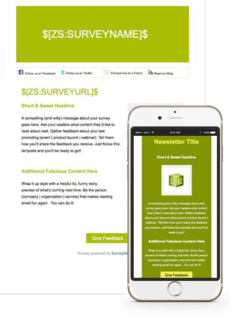 Integration With Surveymonkey Zoho Caigns Survey Monkey Survey Templates