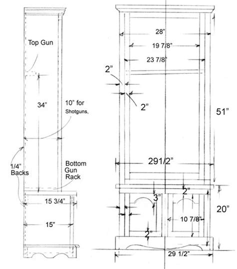 gun cabinet plans woodworking plans  projects