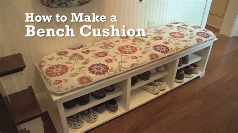 how to make a seat cushion for a bench how to make a bench cushion youtube