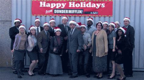 the office christmas gif find share on giphy