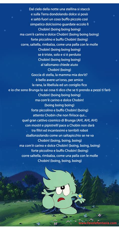 pinocchio testo canzone chobin la sigla favole e fantasia