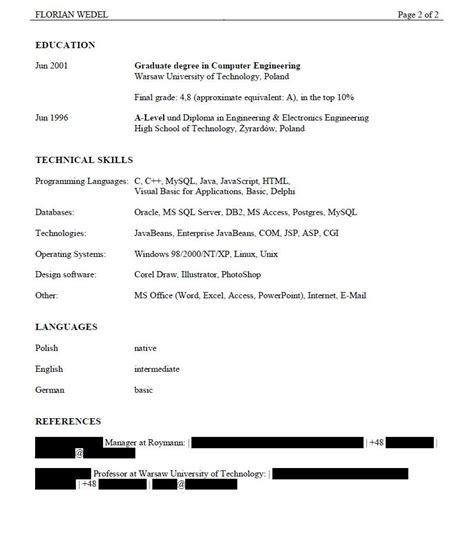 Good And Bad Resume Examples by