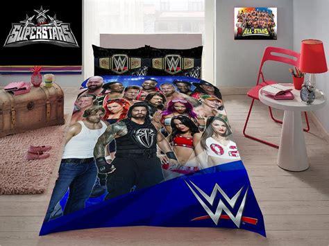wwe comforter set queen wwe wrestling stars john cena triple h roman double size