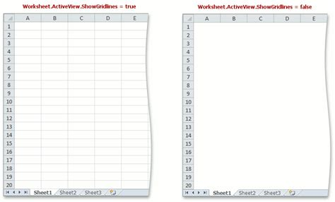 how to show and hide gridlines spreadsheet document