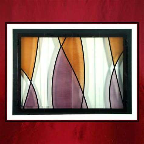 Stained Glass Fireplace Doors Stained Glass Fireplace Door Northshore Fireplace