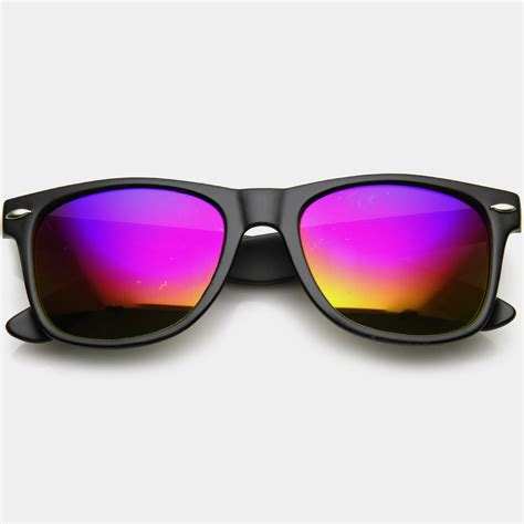Mirror Sunglasses wayfarer mirror lens sunglasses brit co shop