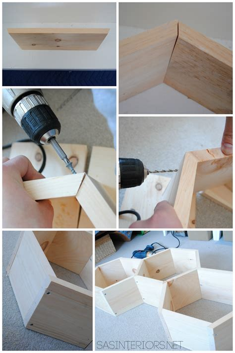 diy how to build wood diy wood honeycomb shelves burger