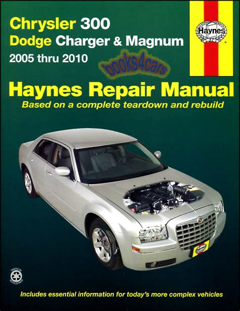 free auto repair manuals 2006 dodge charger electronic valve timing shop service repair manual haynes book chrysler 300 dodge magnum chilton guide c ebay