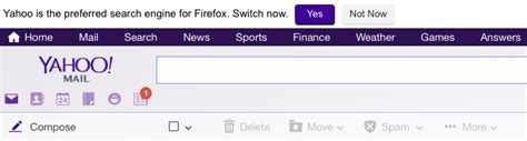 Yahoo Email Search Engine Yahoo Asking Firefox Users To Make Yahoo Search Their Default Search Engine