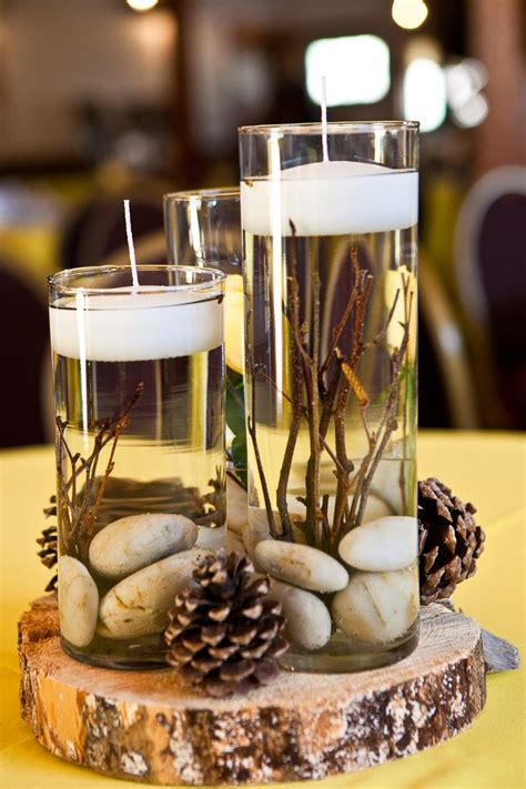 vase ideas for centerpieces best 25 pinecone centerpiece ideas on