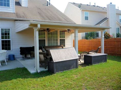 basic studio patio cover over existing slab with added