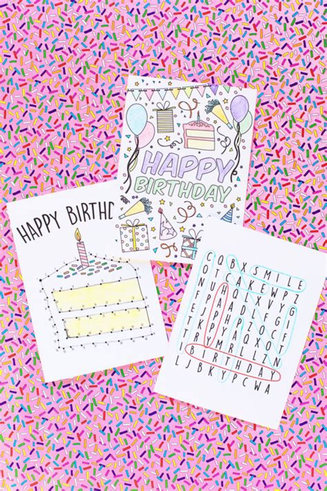 printable birthday cards for kids free printable birthday cards for kids studio diy