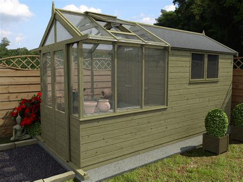 Green House Shed by Our New Greenhouse Shed Combo Range Dunster House