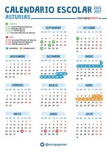 Calendario 2018 Semana Santa Calendario Escolar 2016 2017 En Asturias Navidad Semana