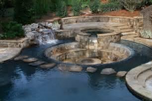 Backyard Remodeling Ideas by Sunken Patio Rustic Pool Atlanta By Shane Leblanc
