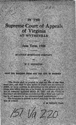 Roanoke Va Court Records Virginia Supreme Court Records Volume 151 Virginia Supreme Court Records