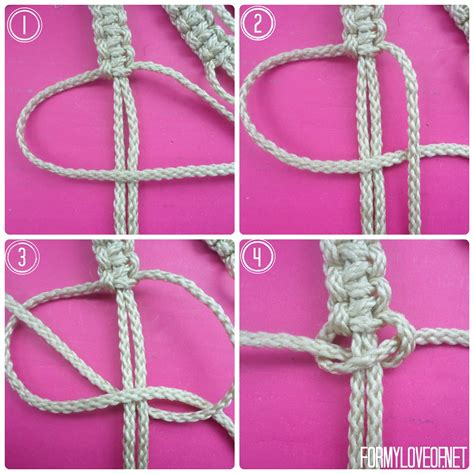How To Make Macrame Knots - diy macrame wall hanging tutorial formyloveof net