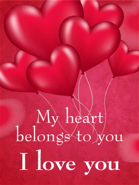 beautiful greeting cards with my name and lover my belongs to you card birthday greeting