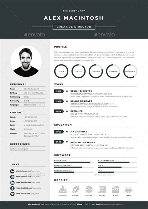 designed resume templates 25 best cv images on cv template resume