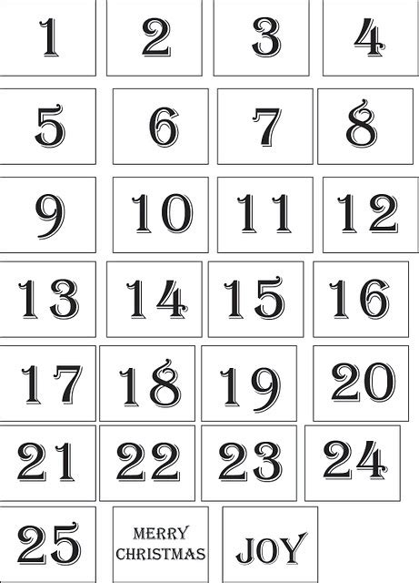 printable numbers for drawing out of hat 109 best advent calendar ideas images on pinterest